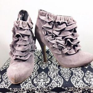 Shoes - Ruffled Heel Booties